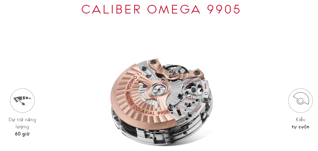 Bộ máy CALIBER OMEGA 9905