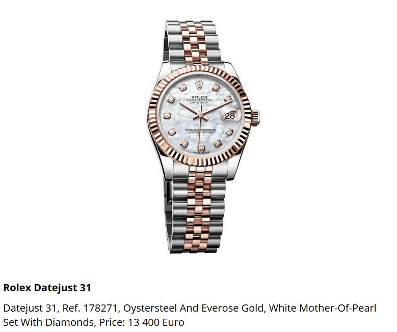Giá đồng hồ Rolex Datejust 31, Ref. 178271
