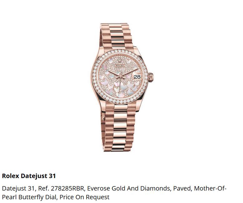 Giá đồng hồ Rolex Datejust 31 Ref. 278285RBR