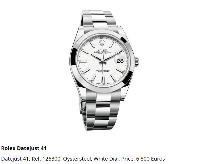 Giá đồng hồ Rolex Datejust 41, Ref. 126300