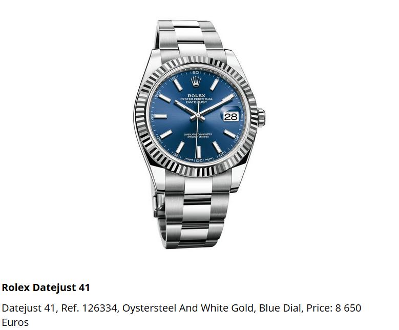 Giá đồng hồ Rolex Datejust 41, Ref. 126334
