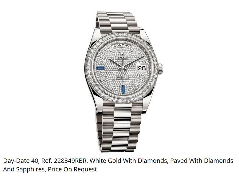 Giá đồng hồ Rolex thụy sĩ Day-Date 40, Ref. 228349RBR