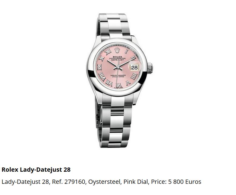 Giá đồng hồ Rolex thụy sĩ Lady-Datejust 28, Ref. 279160