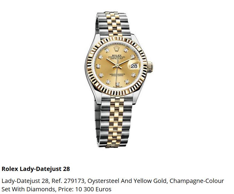 Giá đồng hồ Rolex thụy sĩ Lady-Datejust 28, Ref. 279173