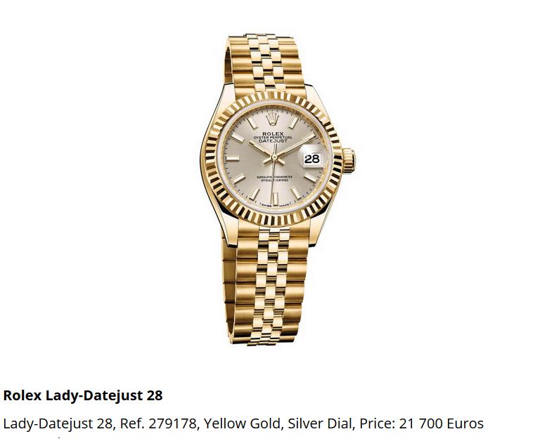 Giá đồng hồ Rolex thụy sĩ Lady-Datejust 28, Ref. 279178