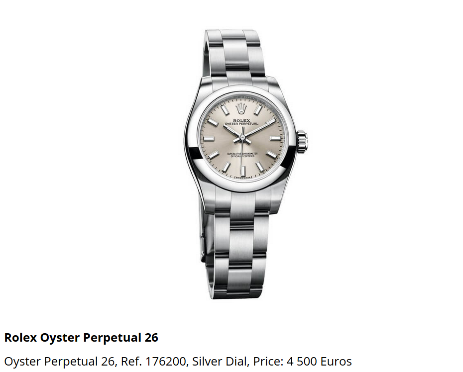 Giá đồng hồ Rolex Oyster Perpetual 26 Ref 176200