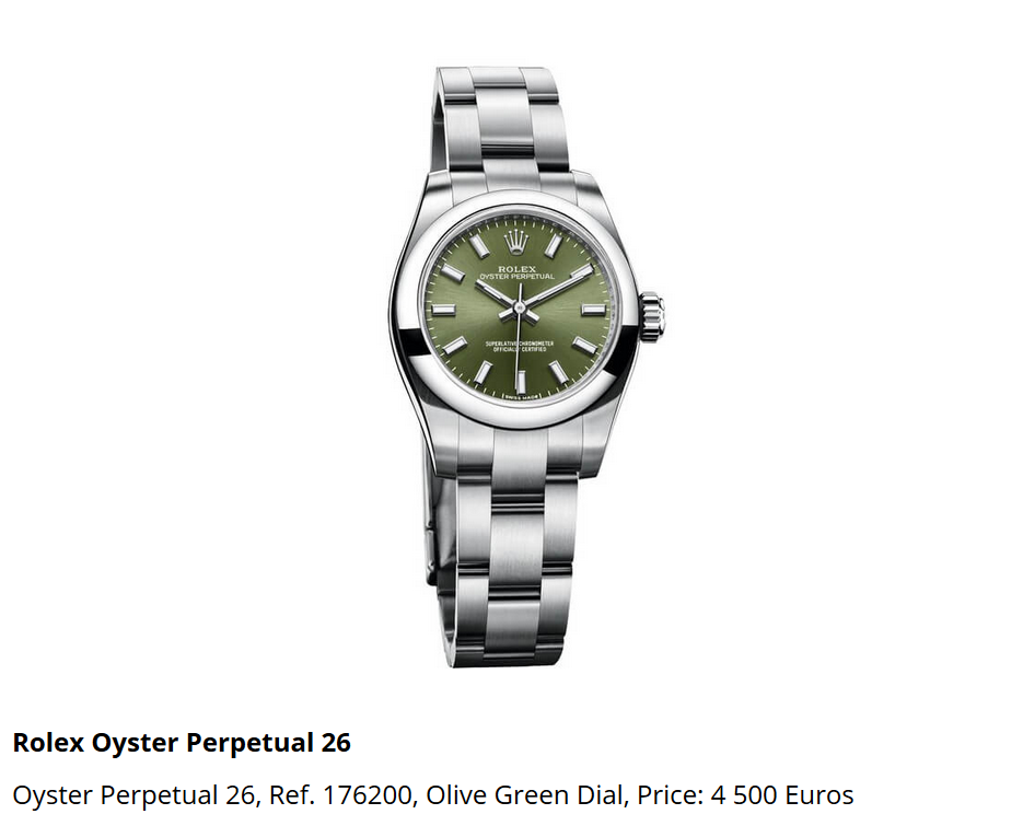 Giá đồng hồ Rolex Oyster Perpetual 26 Ref. 176200