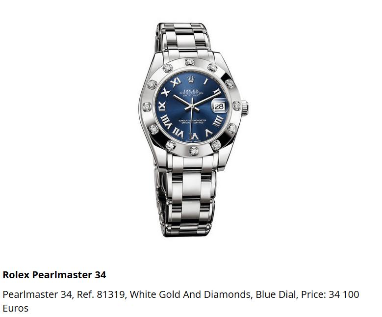 Giá đồng hồ Rolex Pearlmaster 34, Ref. 81319