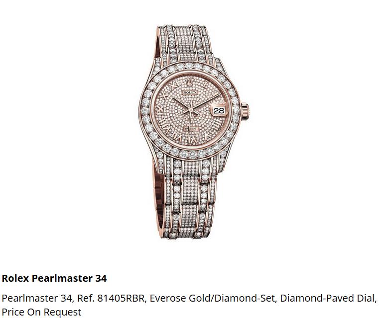 Giá đồng hồ Rolex Pearlmaster 34, Ref. 81405RBR