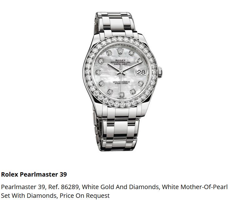 Giá đồng hồ Rolex Pearlmaster 39, Ref. 86289