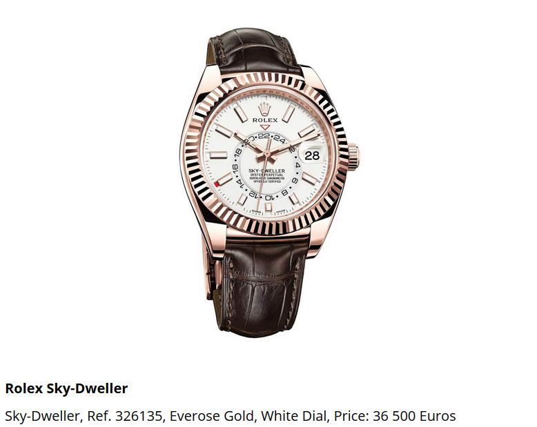 Giá đồng hồ Rolex thuy sĩ Sky-Dweller, Ref. 326135