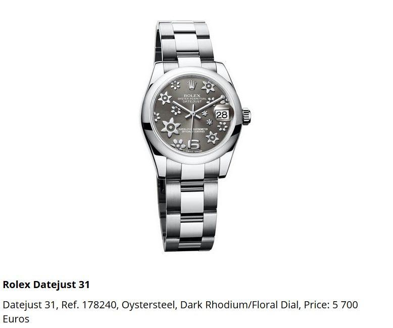Giá đồng hồ Rolex Datejust 31, Ref. 178240