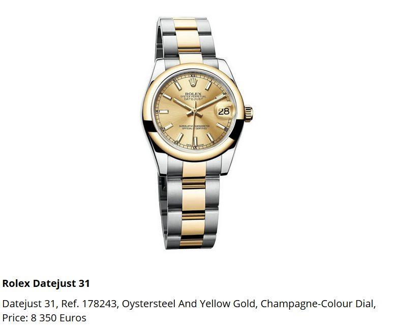 Giá đồng hồ Rolex Datejust 31, Ref. 178243