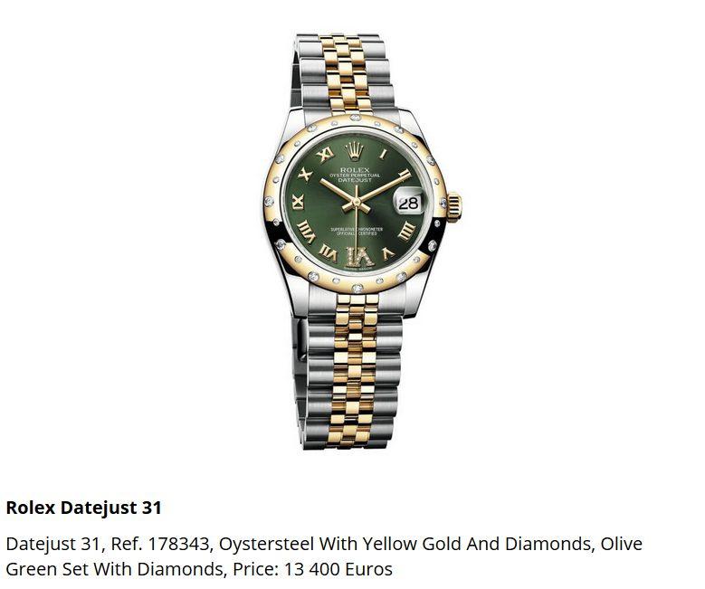 Giá đồng hồ Rolex Datejust 31, Ref. 178343