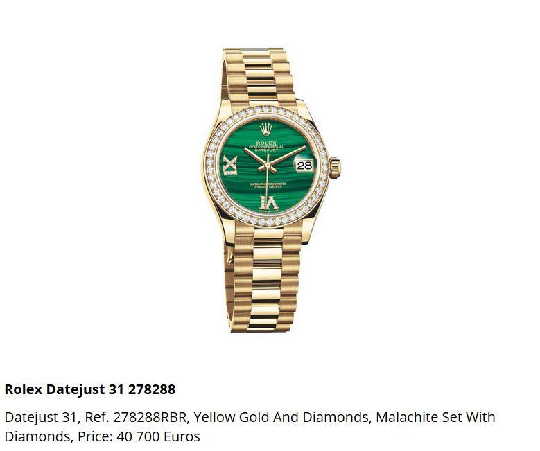 Giá đồng hồ Rolex Datejust 31, Ref. 278288RBR