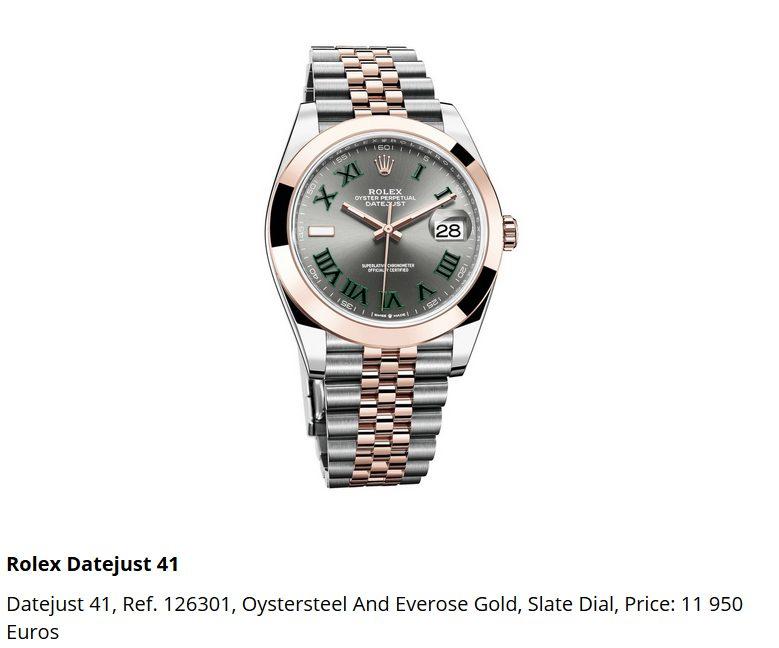Giá đồng hồ Rolex Datejust 41 Ref. 126301