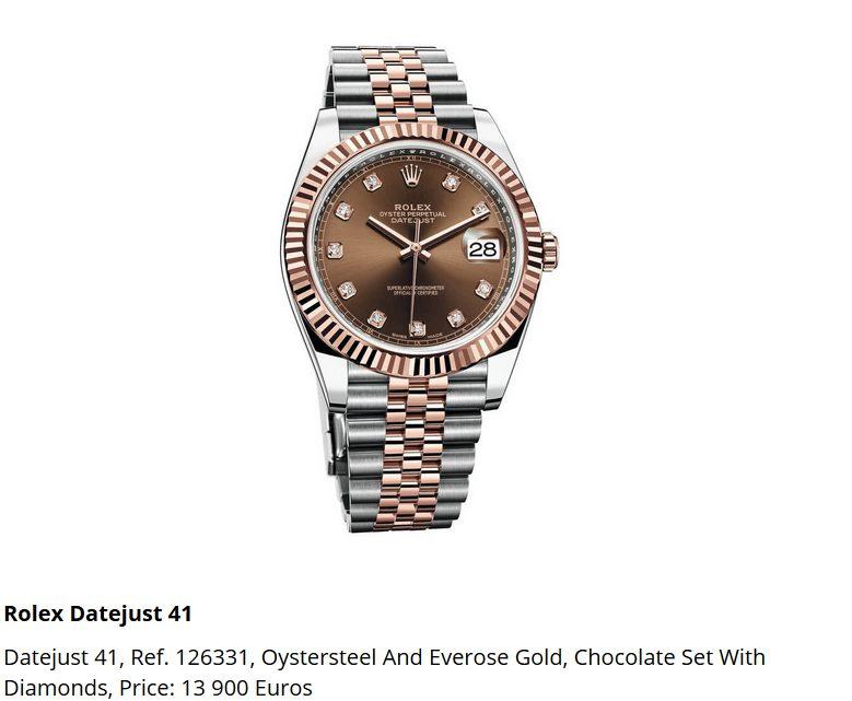 Giá đồng hồ Rolex Datejust 41, Ref. 126331