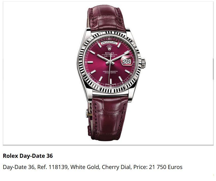Giá đồng hồ Rolex Day-Date 36, Ref. 118139