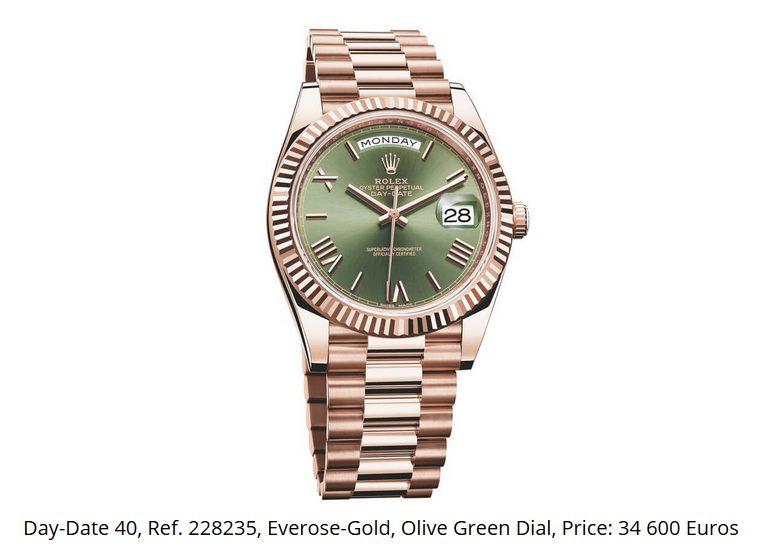 Giá đồng hồ Rolex thụy sĩ Day-Date 40, Ref. 228235