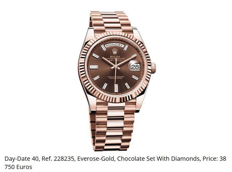 Giá đồng hồ Rolex thụy sĩ Day-Date 40 Ref. 228235