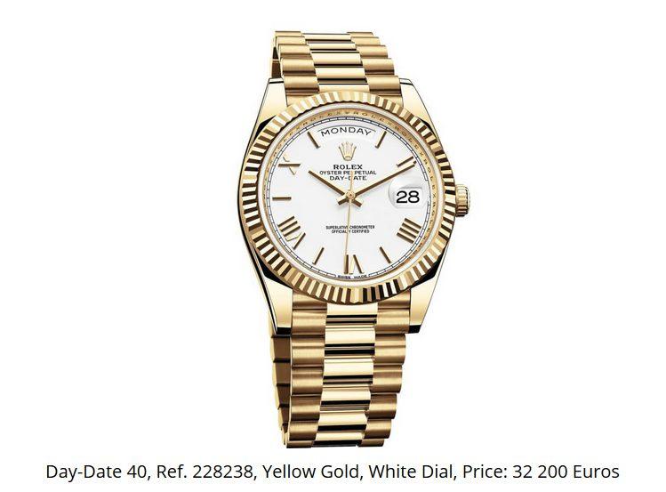 Giá đồng hồ Rolex thụy sĩ Day-Date 40 Ref. 228238