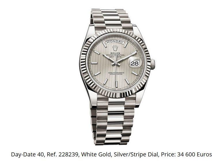Giá đồng hồ Rolex thụy sĩ Day-Date 40, Ref. 228239