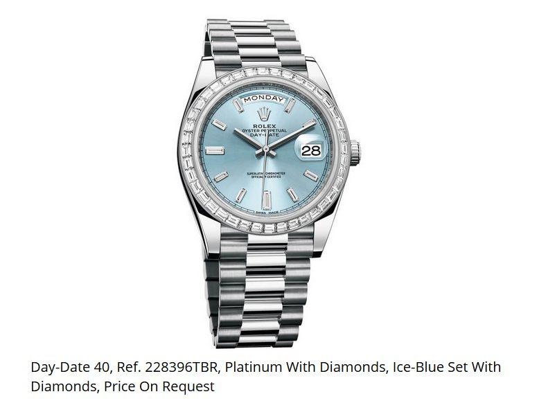 Giá đồng hồ Rolex thụy sĩ Day-Date 40, Ref. 228396TBR