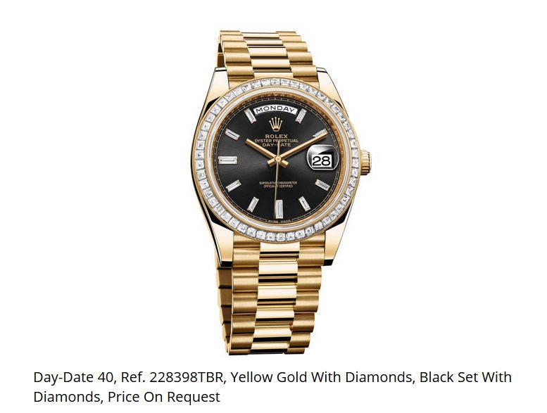 Giá đồng hồ Rolex thụy sĩ Day-Date 40, Ref. 228398TBR