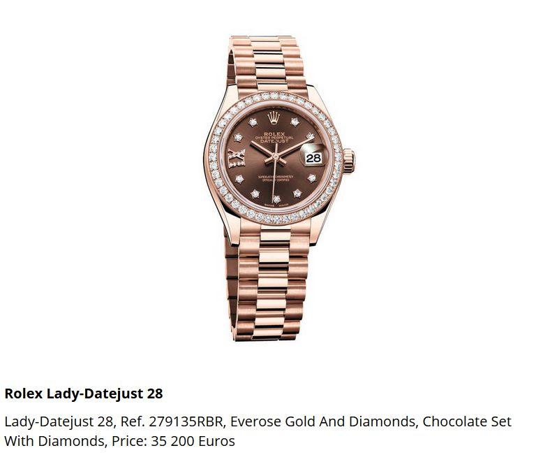Giá đồng hồ Rolex thụy sĩ Lady-Datejust 28, Ref. 279135RBR