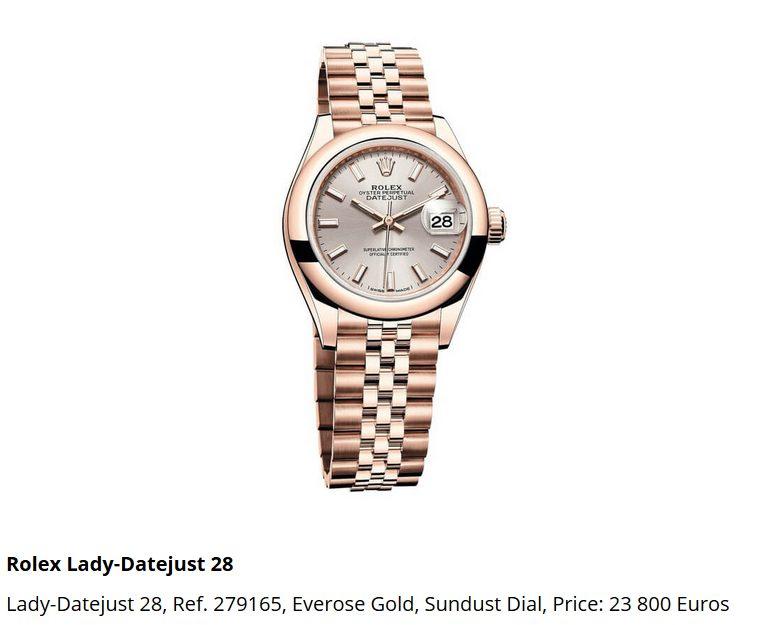 Giá đồng hồ Rolex thụy sĩ Lady-Datejust 28, Ref. 279165