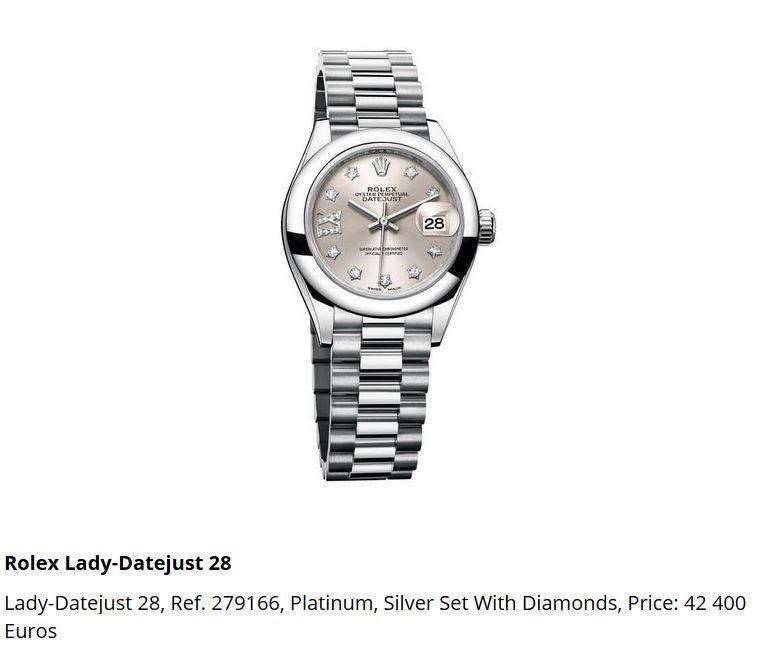Giá đồng hồ Rolex thụy sĩ Lady-Datejust 28, Ref. 279166