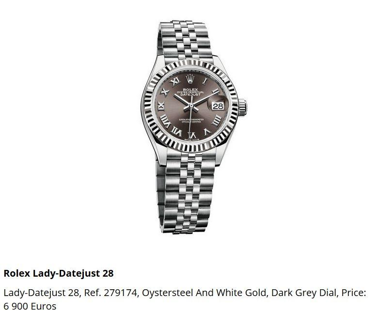 Giá đồng hồ Rolex thụy sĩ Lady-Datejust 28, Ref. 279174