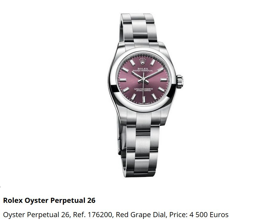 Giá đồng hồ Rolex Oyster Perpetual 26, Ref. 176200