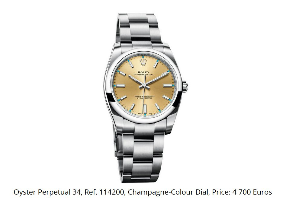 Giá đồng hồ Rolex Oyster Perpetual 34 Ref 114200