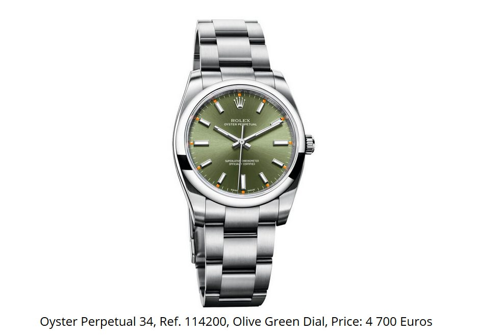 Giá đồng hồ Rolex Oyster Perpetual 34 Ref. 114200