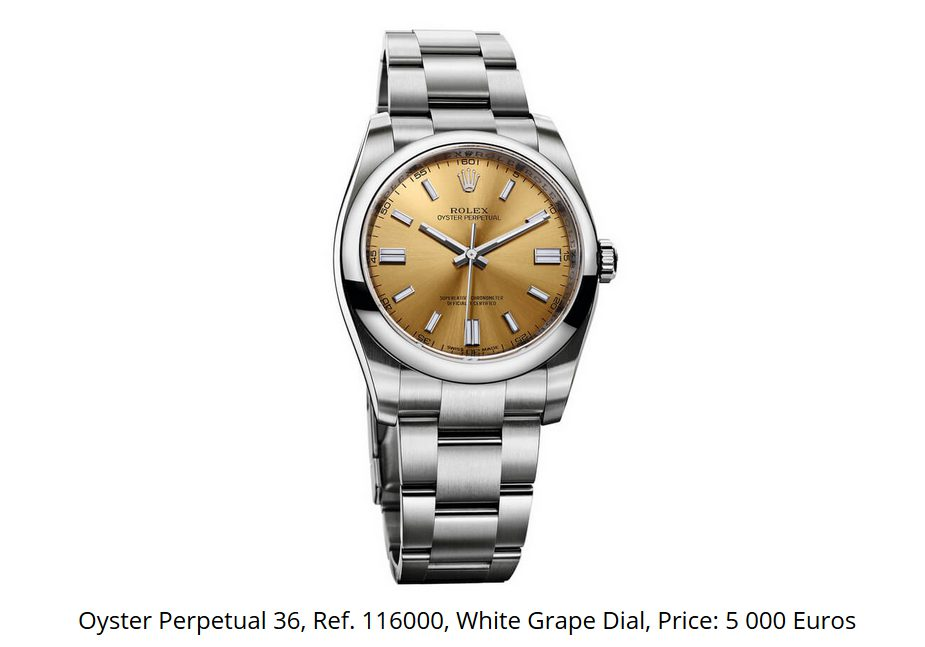 Giá đồng hồ Rolex Oyster Perpetual 36 Ref 116000