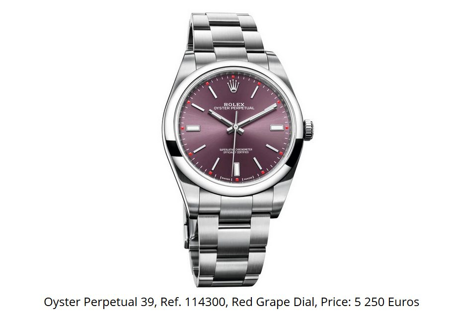 Giá đồng hồ Rolex Oyster Perpetual 39 Ref 114300