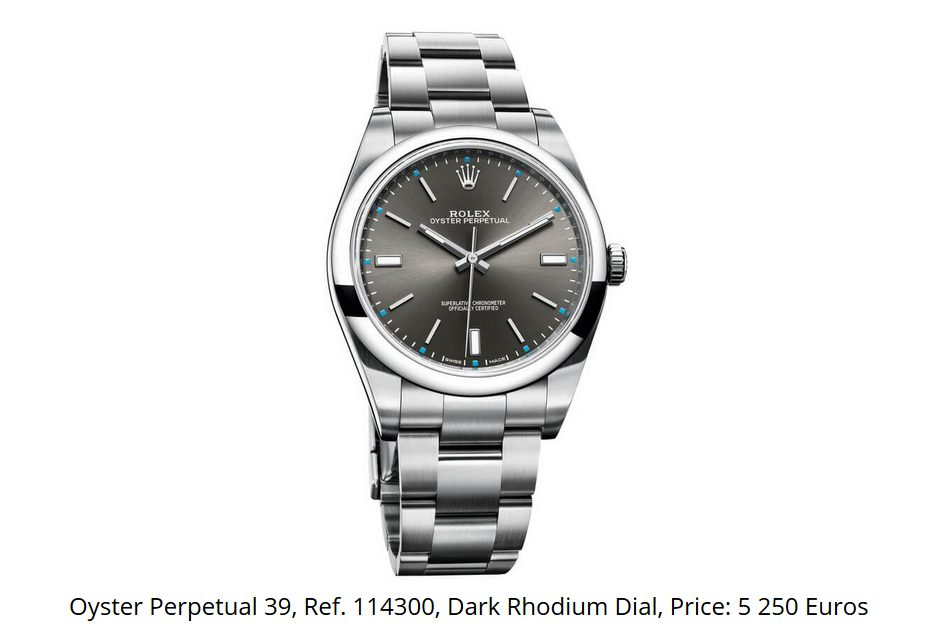 Giá đồng hồ Rolex Oyster Perpetual 39, Ref. 114300