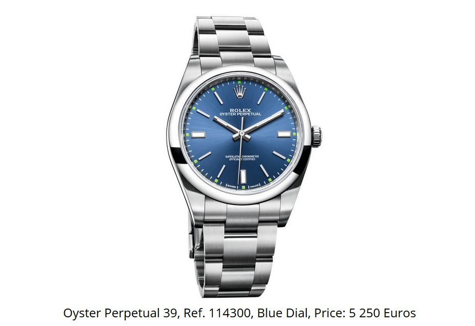 Giá đồng hồ Rolex Oyster Perpetual 39 Ref. 114300