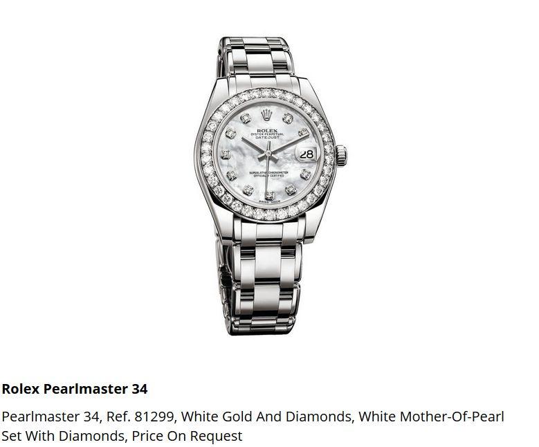 Giá đồng hồ Rolex Pearlmaster 34, Ref. 81299