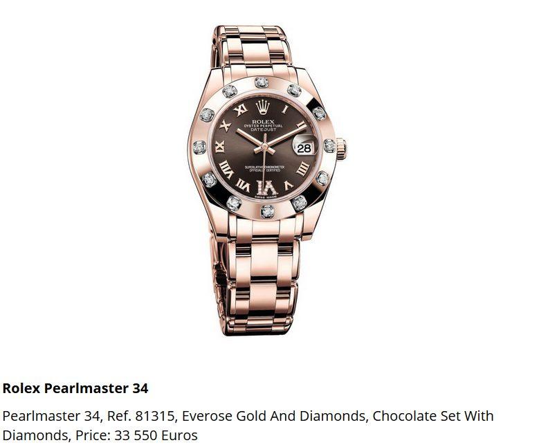 Giá đồng hồ Rolex Pearlmaster 34, Ref. 81315
