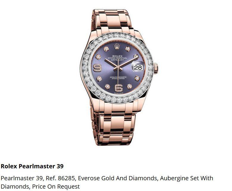 Giá đồng hồ Rolex Pearlmaster 39, Ref. 86285