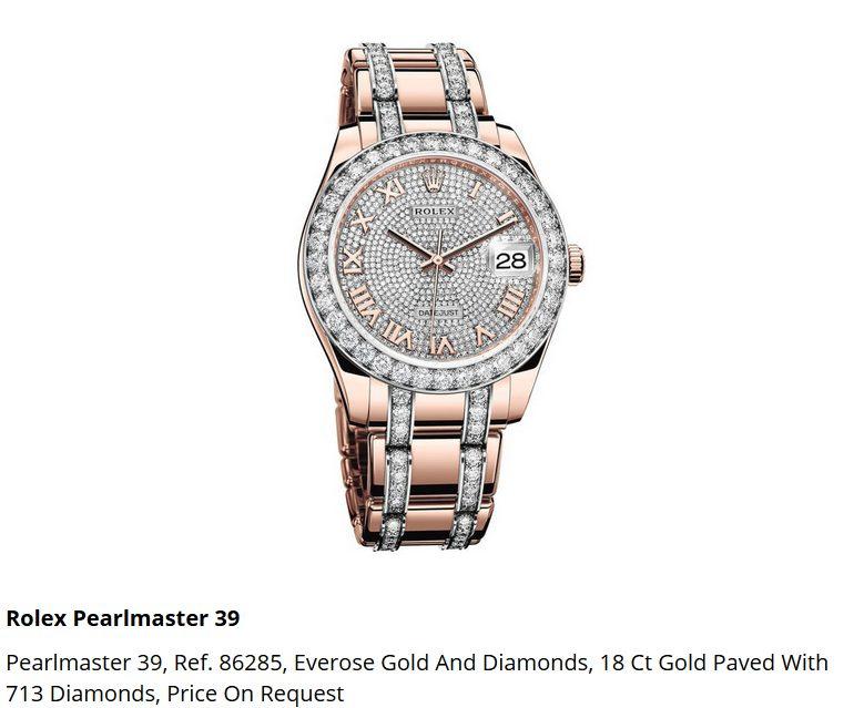 Giá đồng hồ Rolex Pearlmaster 39 Ref. 86285