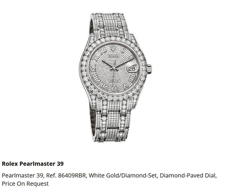 Giá đồng hồ Rolex Pearlmaster 39, Ref. 86409RBR