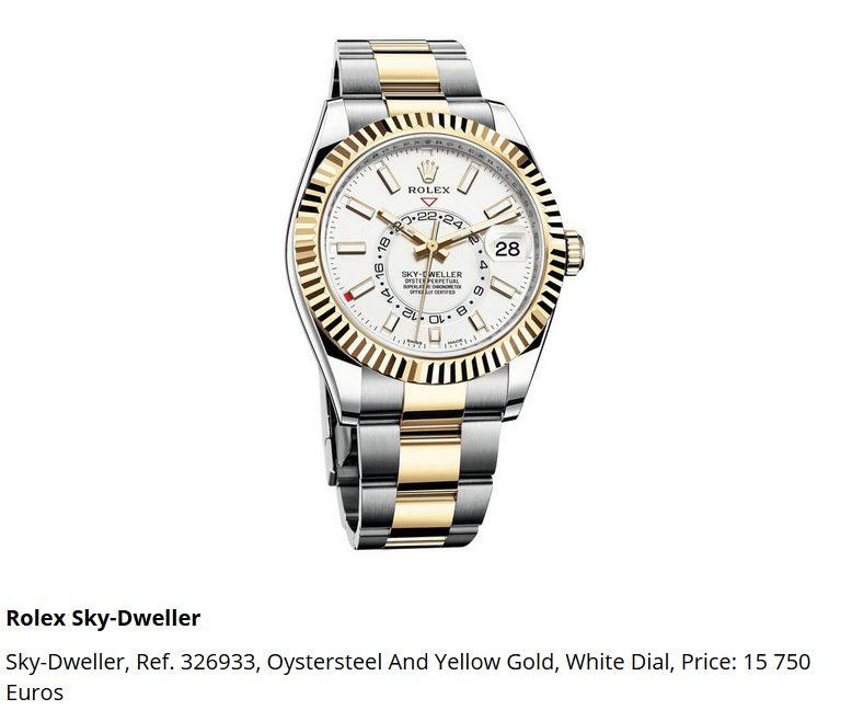 Giá đồng hồ Rolex thuy sĩ Sky-Dweller, Ref. 326933