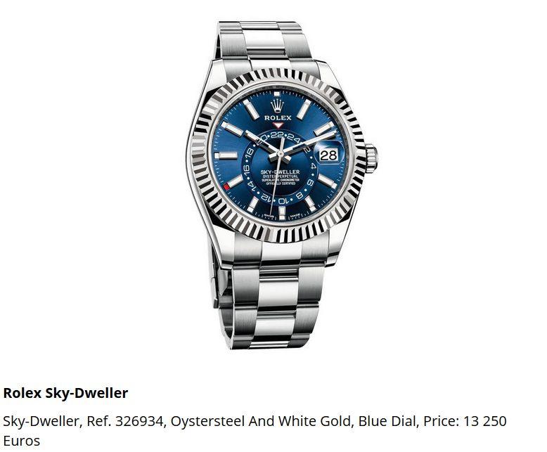 Giá đồng hồ Rolex thuy sĩ Sky-Dweller, Ref. 326934