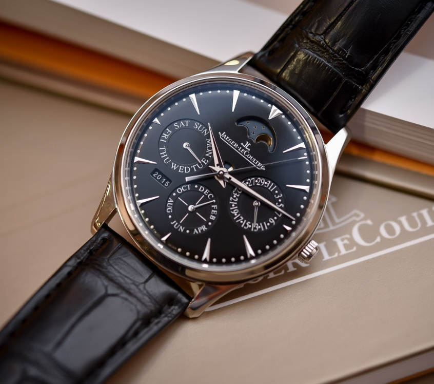 Đồng hồ Jaeger-LeCoultre Master Ultra Thin Perpetual steel black dial