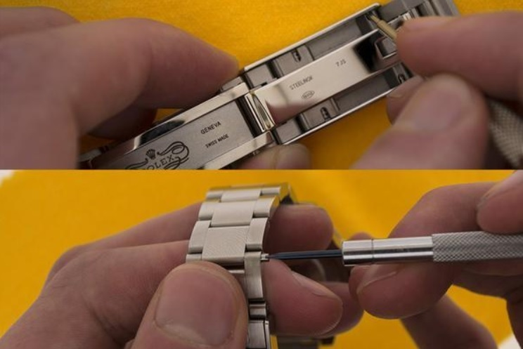 Các bước thực hiện thay dây da cho đồng hồ dây kim loại_1