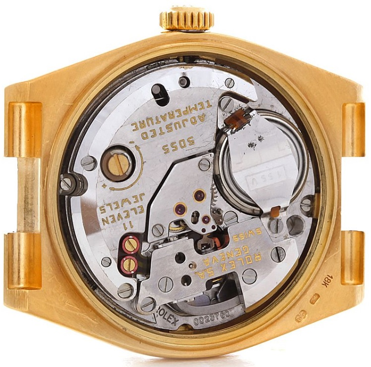 Calibre_5055_trên_đồng_hồ_Rolex_Oysterquartz_President_Day_Date_18K_Yellow_Gold_Watch_19018