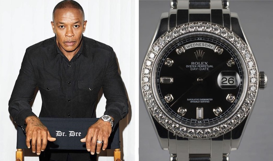 Dr._Dre_với_chiếc_đồng_hồ_Platinum_Rolex_Day_Date_MasterPiece_Reference-18946